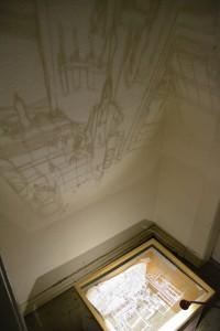 Lichtbild einer sezierten Zeichnung von Jenni Tietze