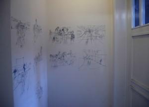 Ausgeschnittene Zeichnungen