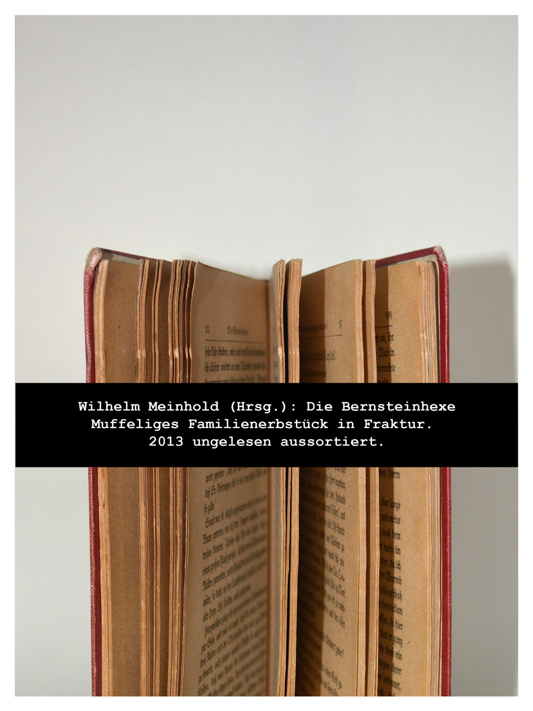Mugshot von einem alten Buch