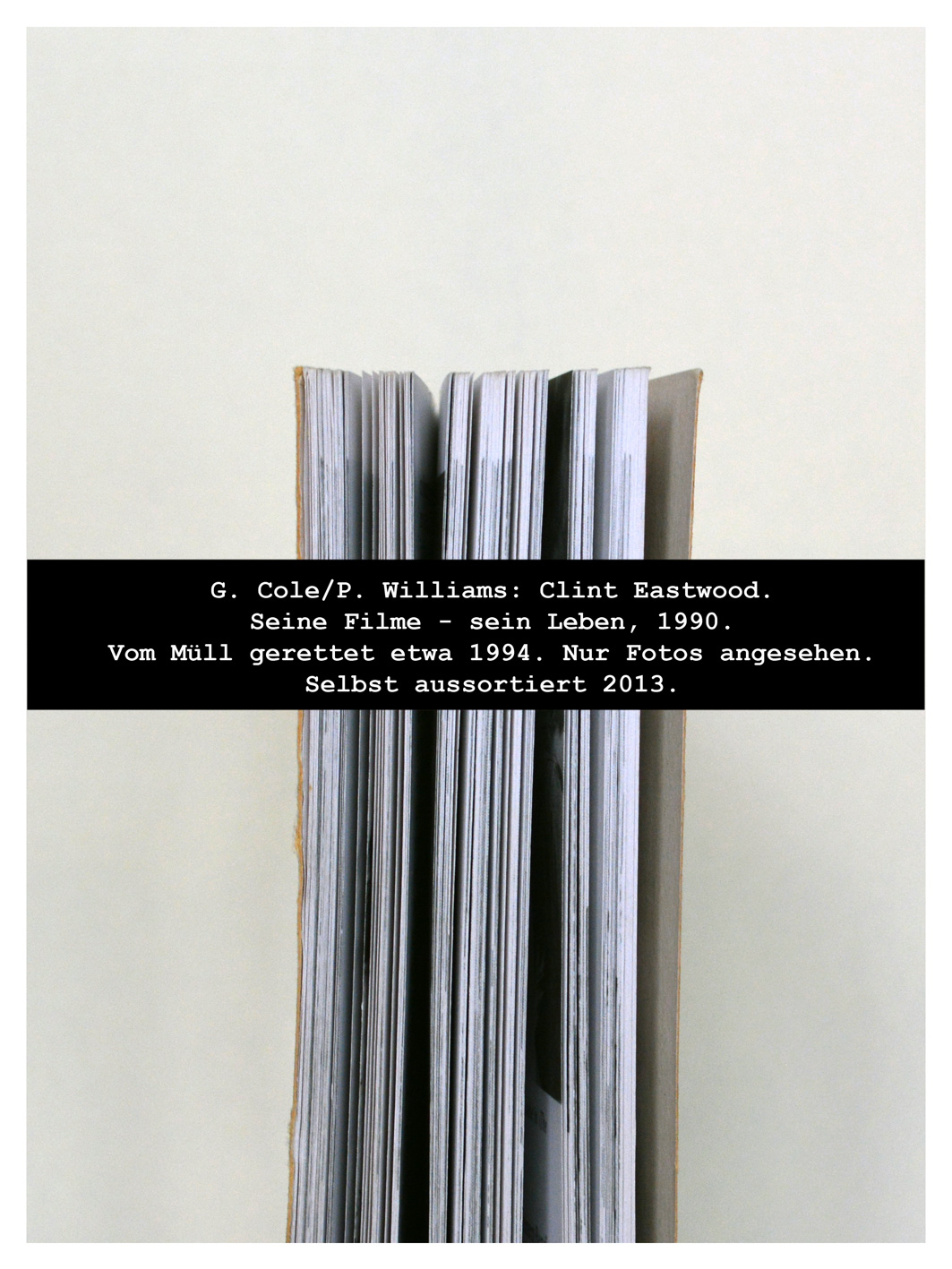Mugshot von einem Buch.