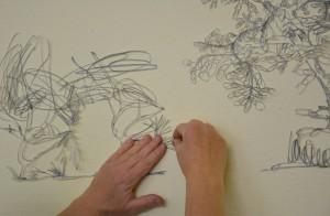 Jenni Tietze zeigt sezierte Zeichnungen
