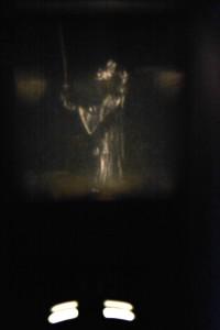 Foto des Lichtbildes einer Ritterzeichnung