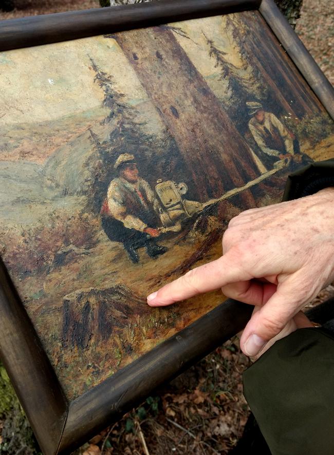 Bettina Ulitzka-Allali unterzieht ein Waldgemälde einer Jungsche Deutung.