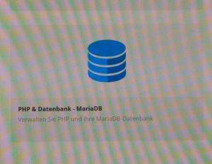 Aufnahme der PHP-Kachel meines Webhosts