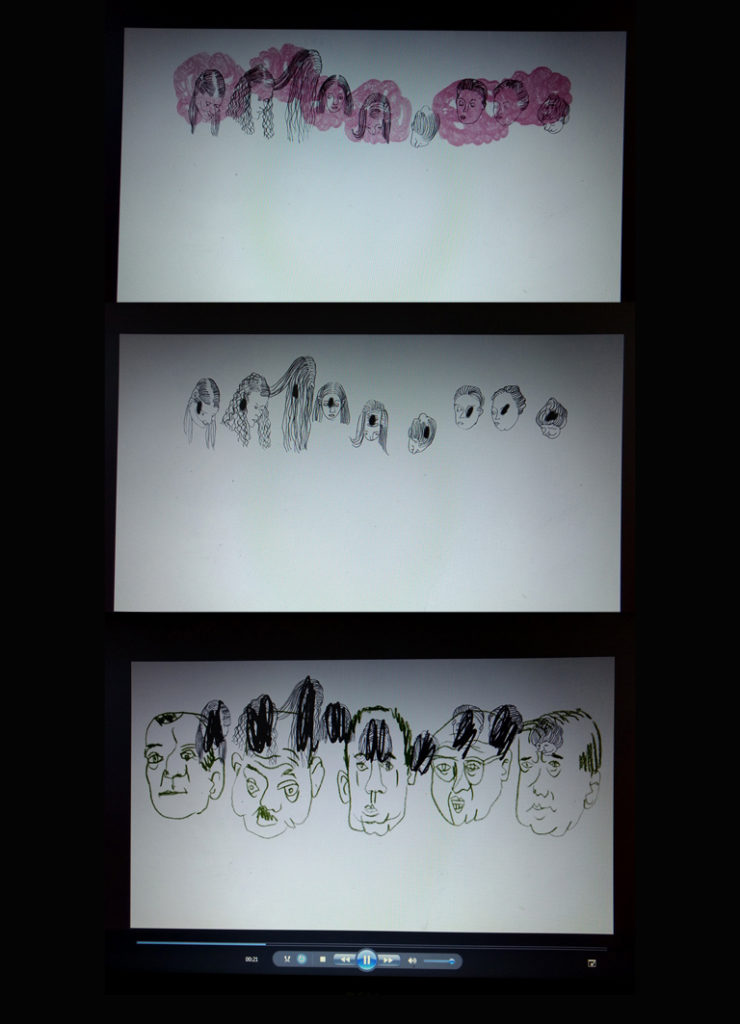 Virtuell zusammengesetzteStandbilder aus Jenni Tietzes Film Alice im Weltmassstab