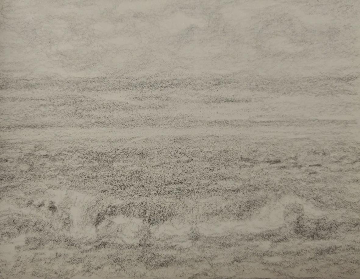 Seestück als Bleistiftminiatur von der Hamburger Künstlerin EVA