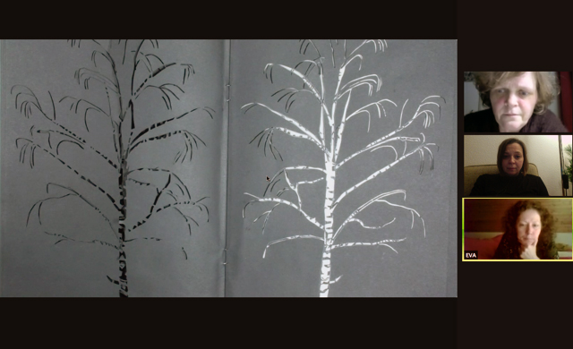 Screenshot vom 46. Schwarzen Schimmel, gezeigt wird ein Kunstwerk von Jenni Tietze